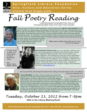 Fall 2012 Poetry Reading-1
